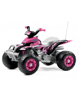 Quad-eletrico-Corral-T-Rex-Pink-OR0073-Peg-Perego-Agridiver