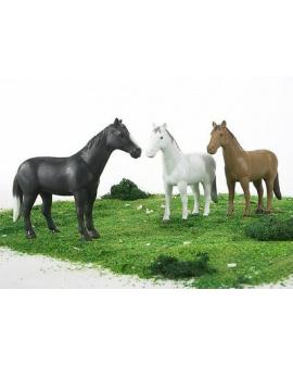 Cavalos-brinquedo-escala-branco-preto-castanho-02306-Bruder-Agridiver