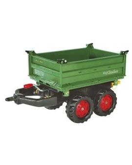 Reboque de brinquedo Rollymegatrailer basculante 122202 Rolly Toys Agridiver