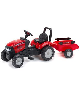 Trator-a-pedais-Case-IH-Maxxum-130-CVX-reboque-961B-Falk-agridiver