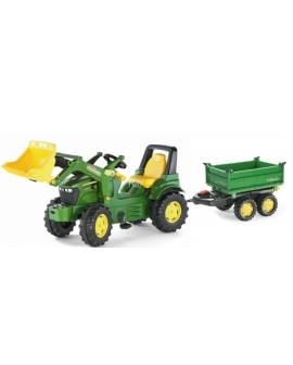 Trator-pedais-John-Deere-7930-pá-reboque-MEgatrailer-710027-Rolly Toys -Agridiver