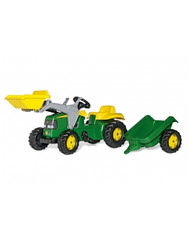 Trator a pedais com pa John Deere Rollykid-23110-Rolly Toys-Agridiver